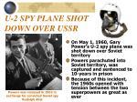 u 2 spy plane shot down over ussr