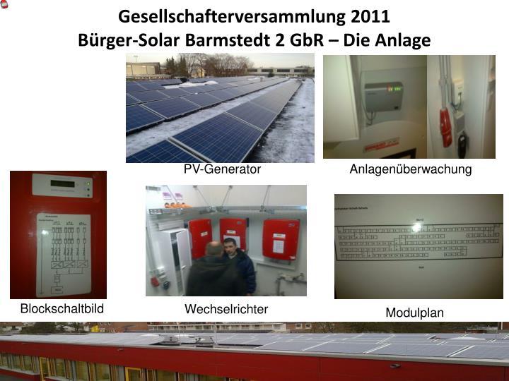 Gesellschafterversammlung 2011 b rger solar barmstedt 2 gbr die anlage