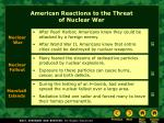 american reactions to the threat of nuclear war