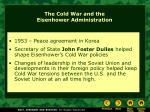 the cold war and the eisenhower administration