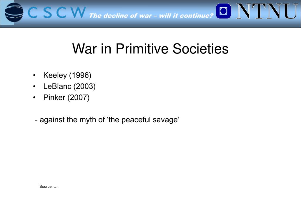 War in Primitive Societies
