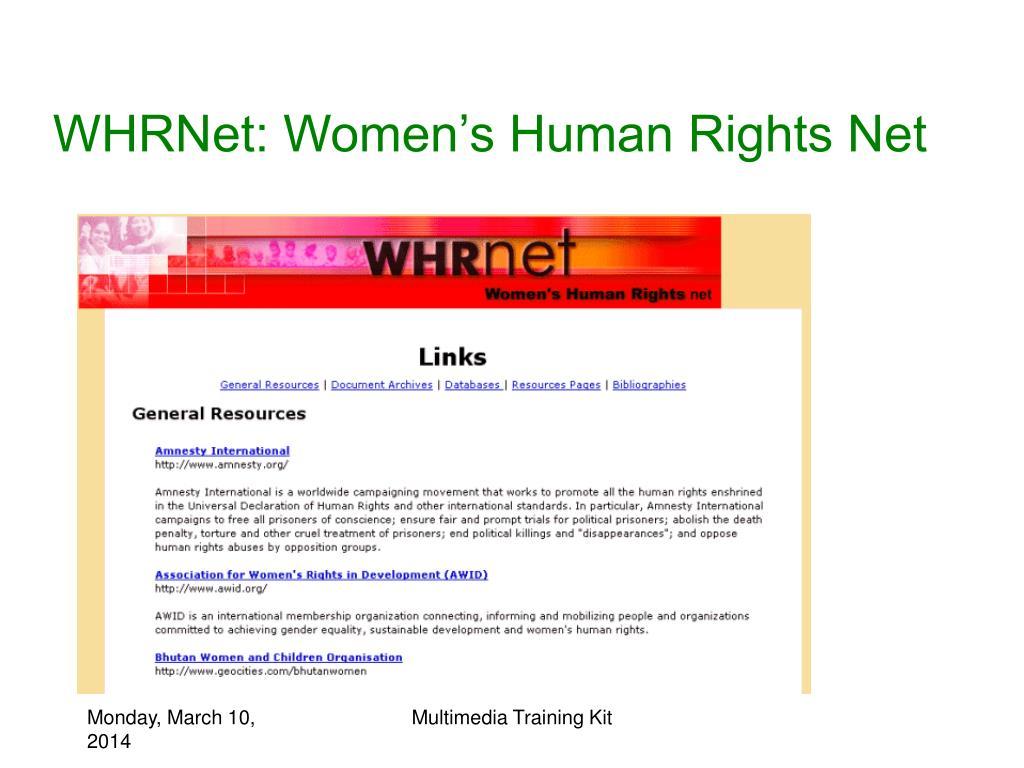 WHRNet: Women's Human Rights Net