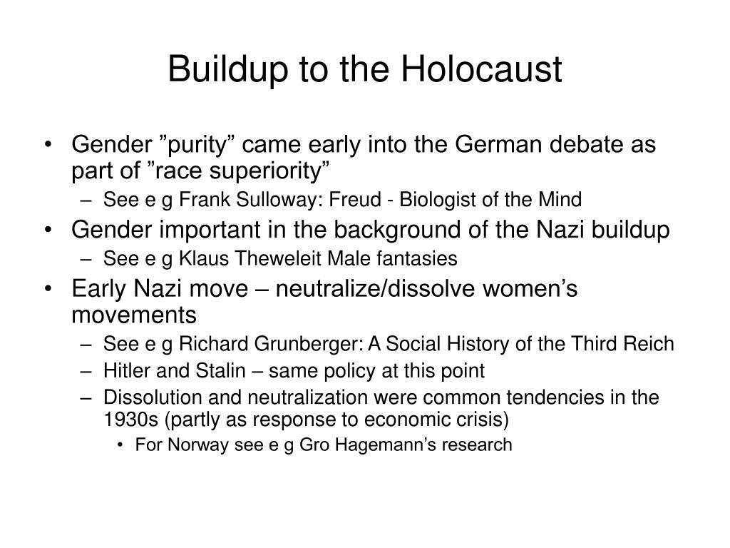 Buildup to the Holocaust