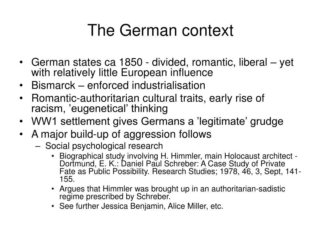The German context