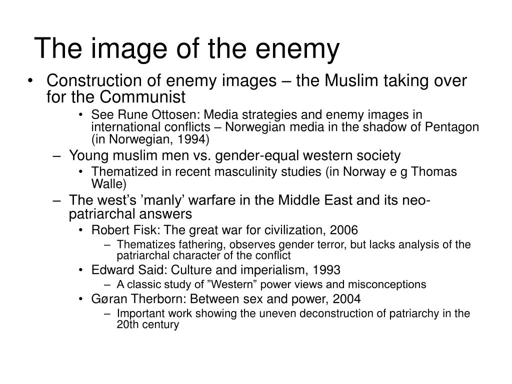 The image of the enemy