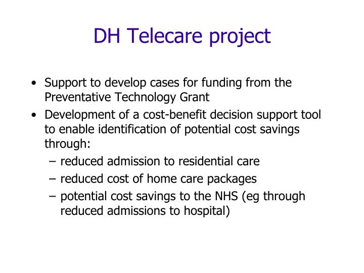 DH Telecare project