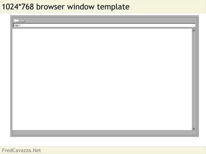 1024 768 browser window template