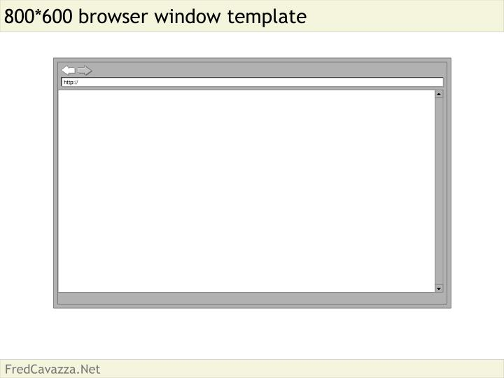 800 600 browser window template
