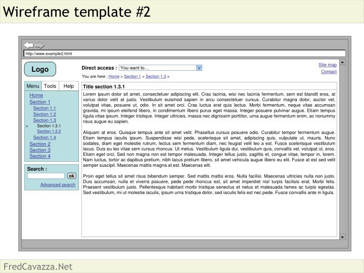 Wireframe template #2