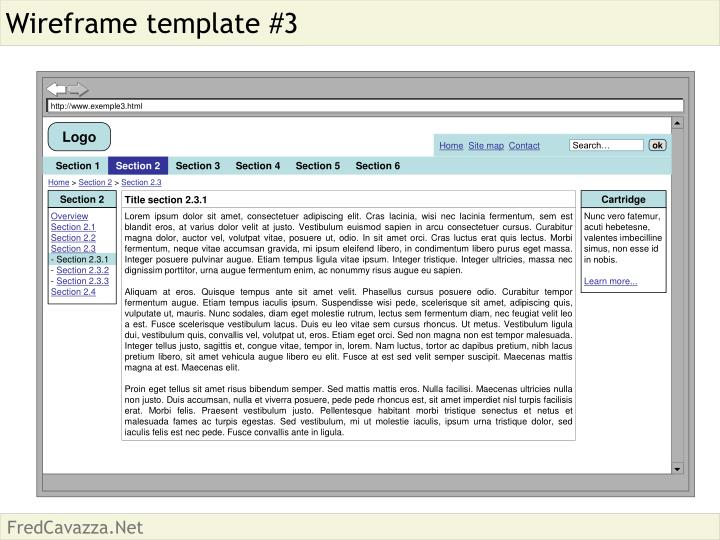 Wireframe template #3