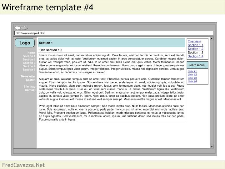 Wireframe template #4