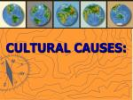 cultural causes47