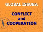 global issues conflict and cooperation63