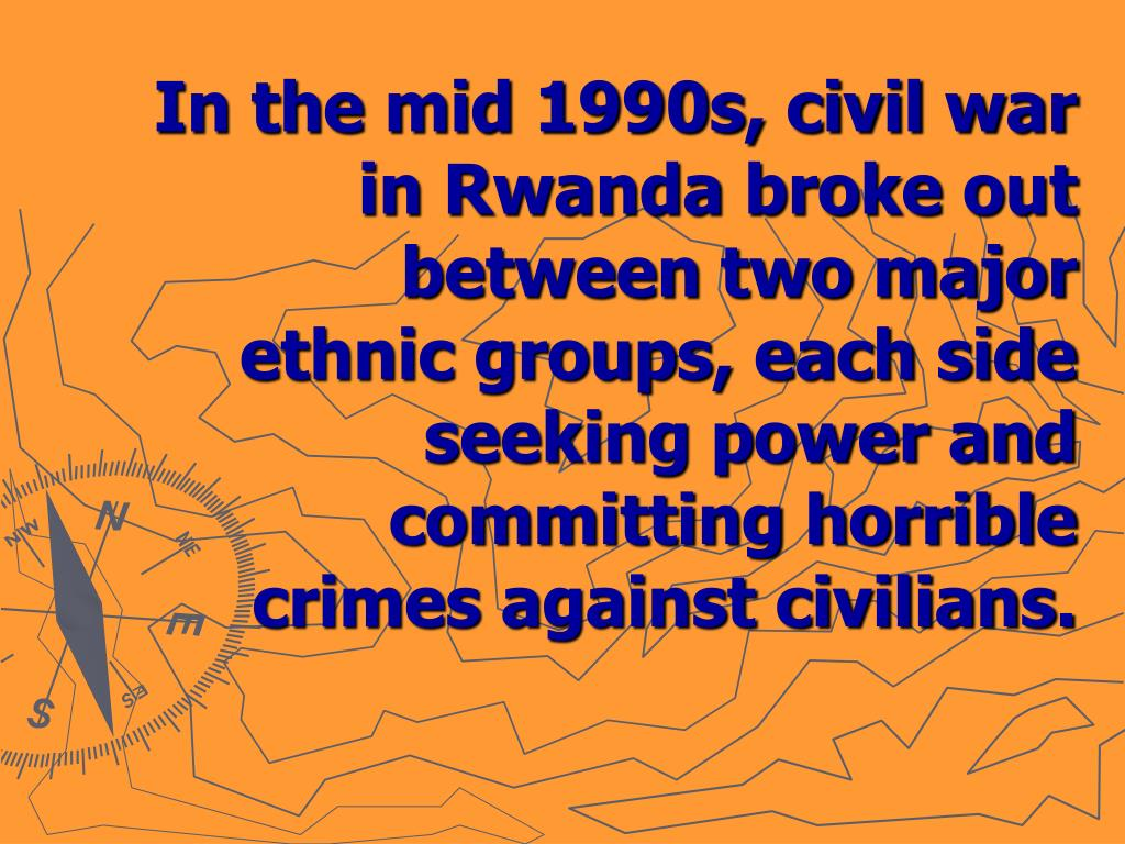 In the mid 1990s, civil war