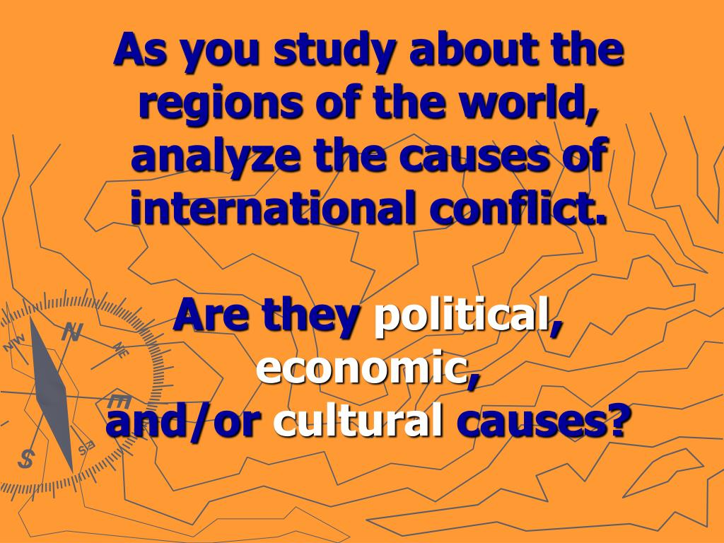 As you study about the regions of the world,