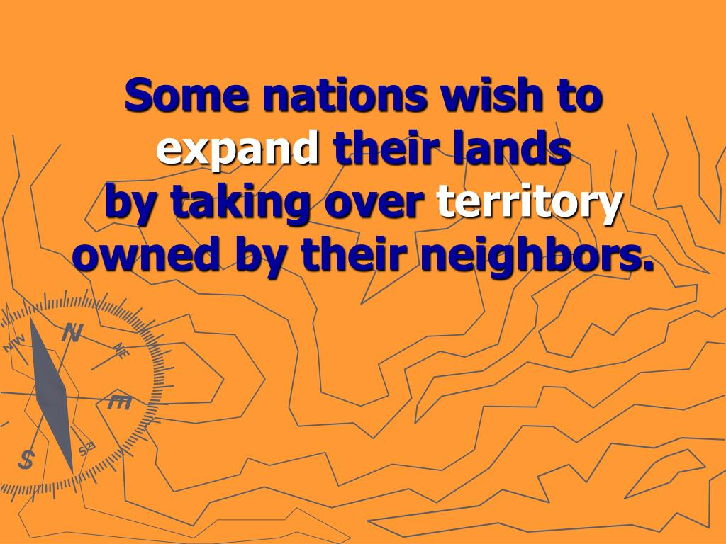 Some nations wish to