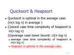 quicksort heapsort