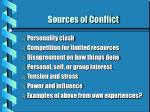 sources of conflict17