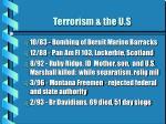 terrorism the u s