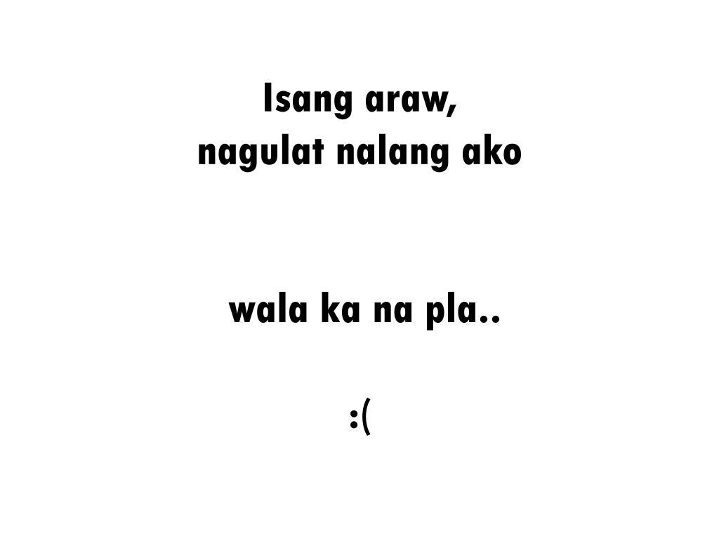 Isang araw,