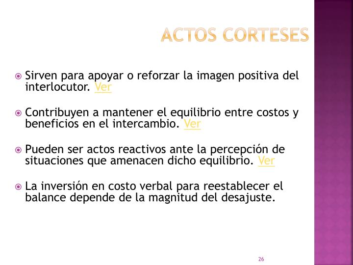 Actos corteses