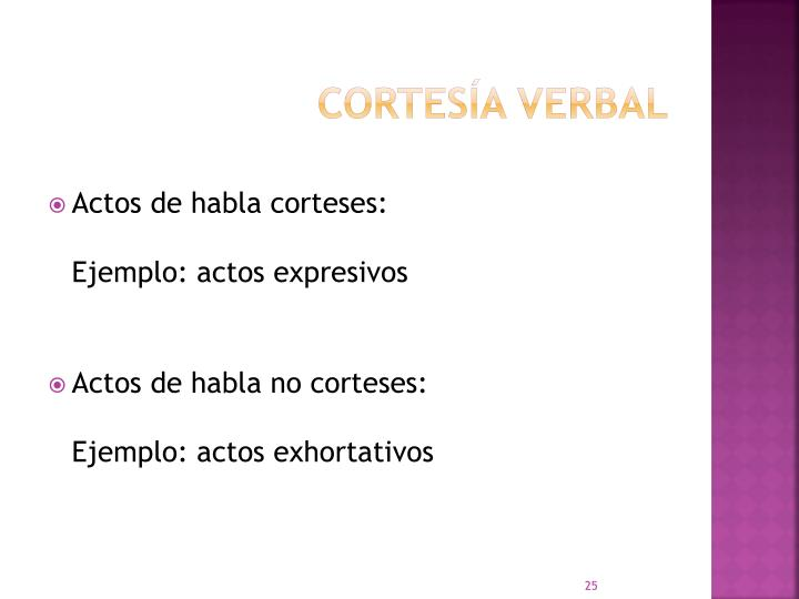 Cortesía verbal