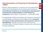 doha declaration on financing for development 2008