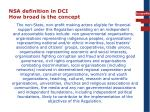 nsa definition in dci how broad is the concept