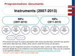 programmation documents