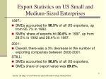 export statistics on us small and medium sized enterprises