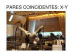 pares coincidentes x y1