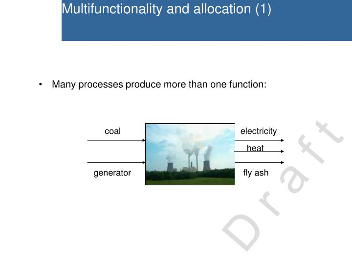 Multifunctionality and allocation (1)