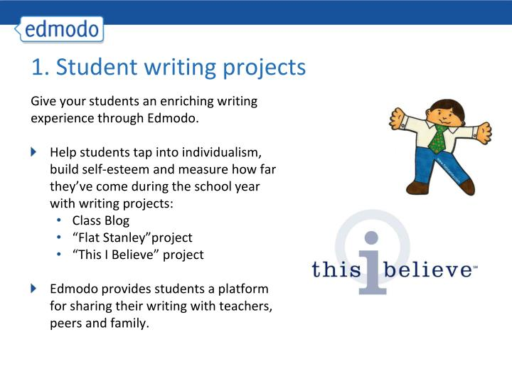 1 student writing projects