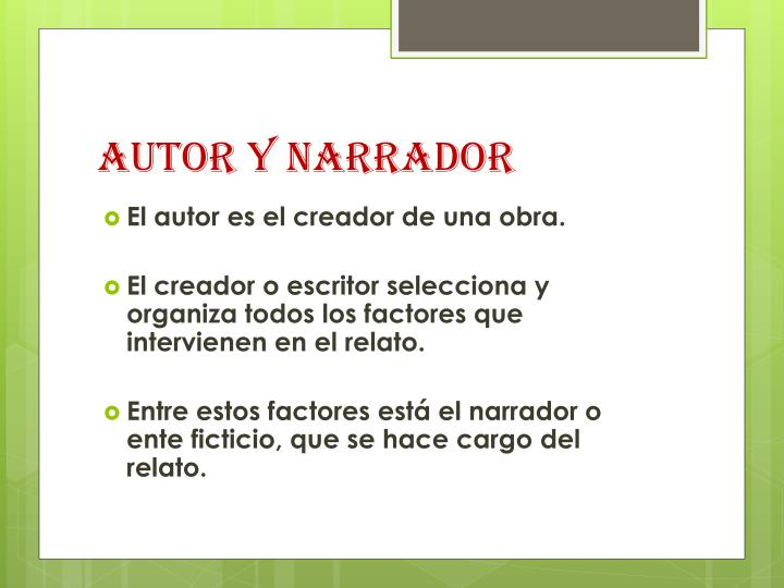 AUTOR Y NARRADOR
