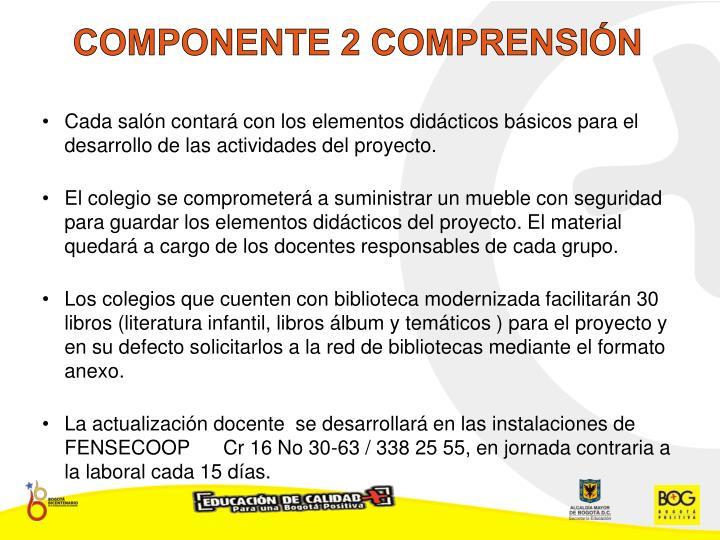 COMPONENTE 2 COMPRENSIÓN