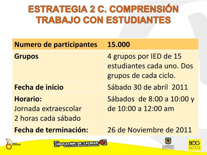 ESTRATEGIA 2 C. COMPRENSIÓN