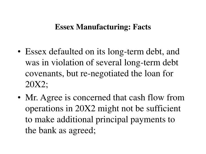 Essex Manufacturing: Facts