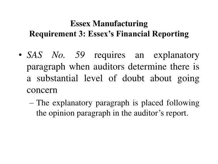 Essex Manufacturing