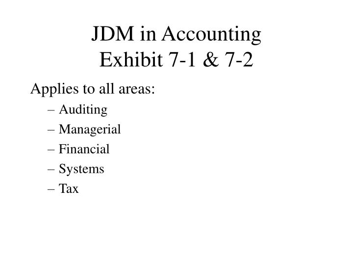 JDM in Accounting