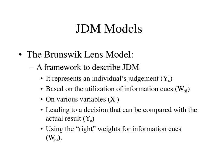 JDM Models