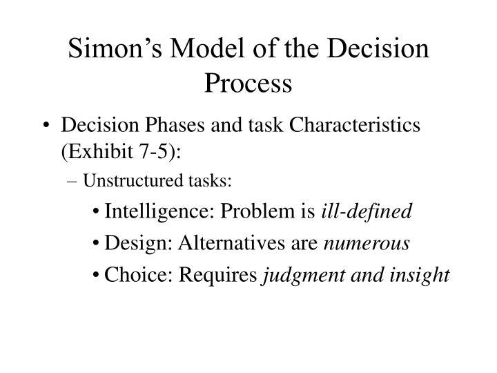 Simon's Model of the Decision Process