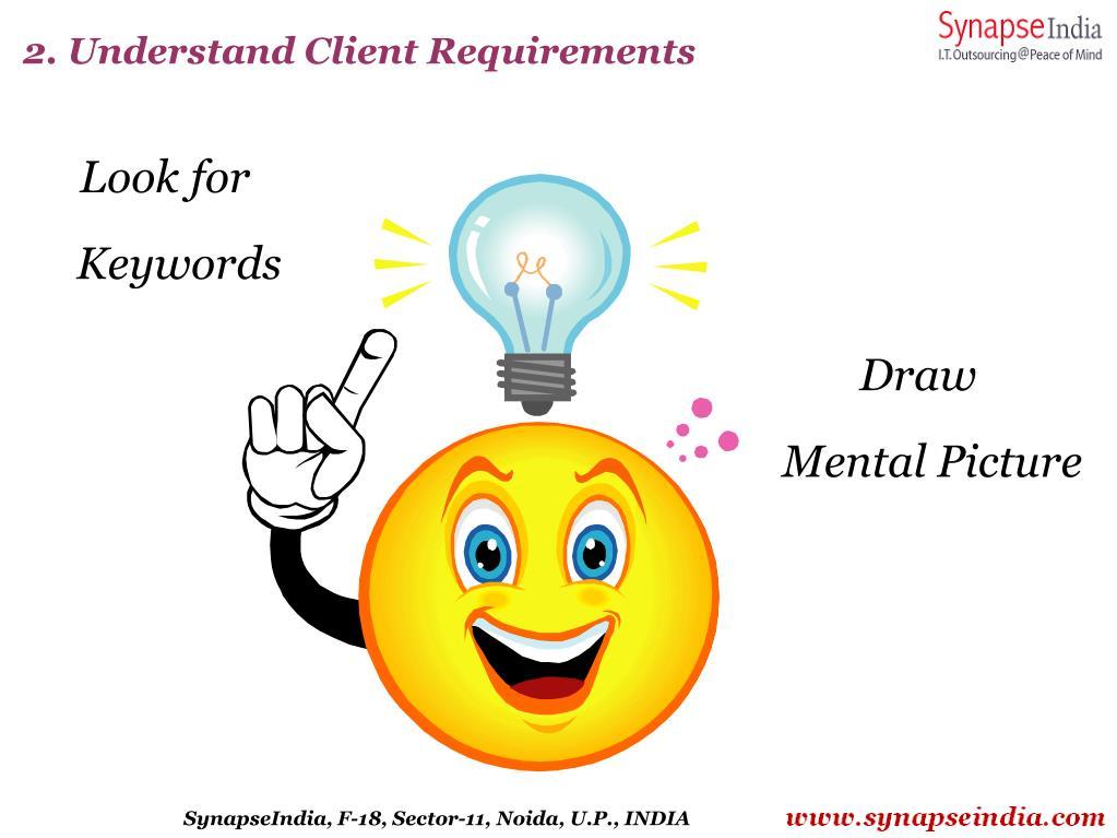 2. Understand Client Requirements