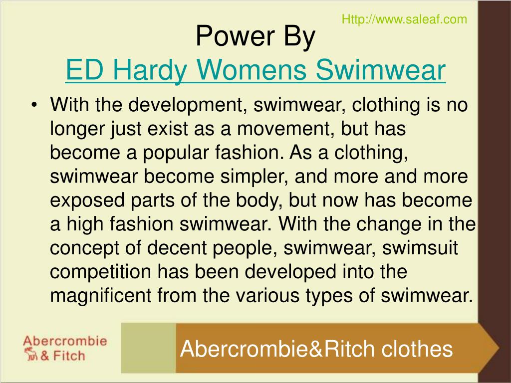 With the development, swimwear, clothing is no longer just exist as a movement, but has become a popular fashion. As a clothing, swimwear become simpler, and more and more exposed parts of the body, but now has become a high fashion swimwear. With the change in the concept of decent people, swimwear, swimsuit competition has been developed into the magnificent from the various types of swimwear.