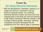power by ed hardy womens swimwear