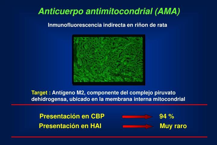 Anticuerpo antimitocondrial (AMA)