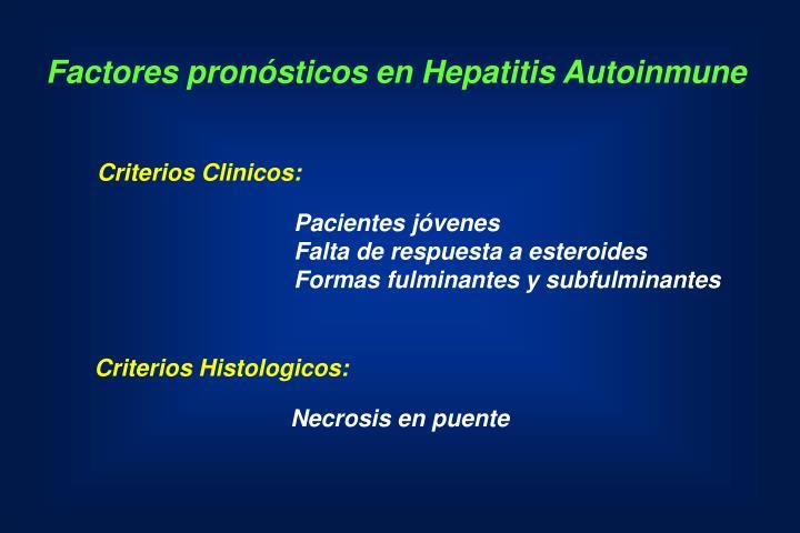 Factores pronósticos en Hepatitis Autoinmune
