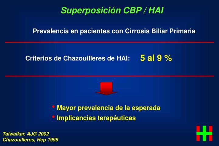 Superposición CBP / HAI