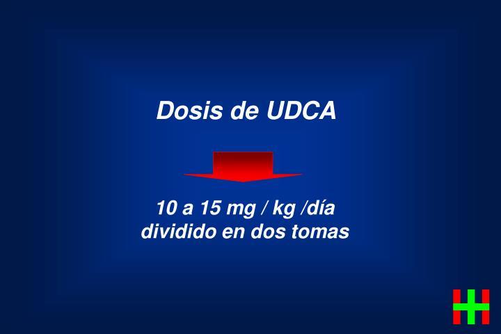 Dosis de UDCA