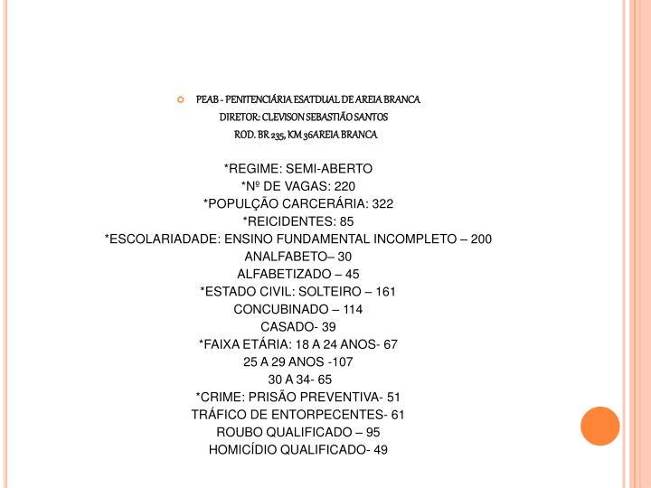 PEAB - PENITENCIÁRIA ESATDUAL DE AREIA BRANCA