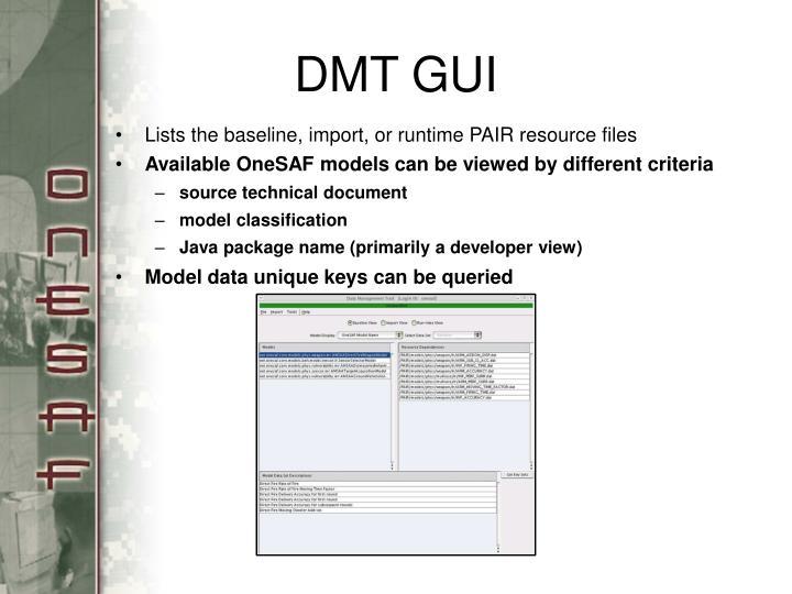 DMT GUI